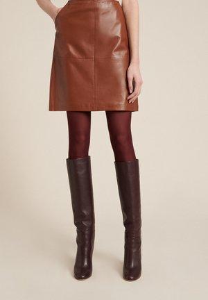 FELCE - A-line skirt - cognac