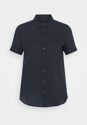 SHORT SLEEVED BUTTON THROUGH STYLE - Button-down blouse - night sky