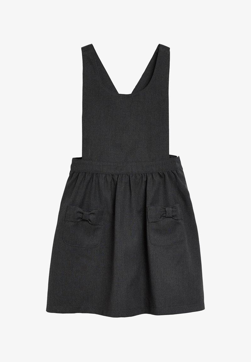 Next - BOW PINAFORE  - Day dress - grey