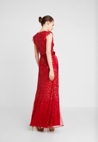 Maya Deluxe - EMBELLISHED MAXI DRESS WITH SASH BOW TIE - Ballkjole - red - 3