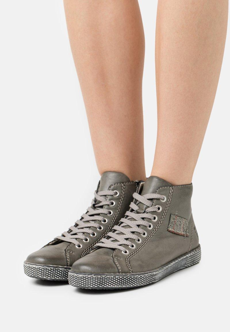 Rieker - Lace-up ankle boots - grau