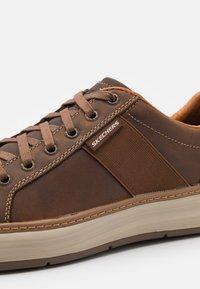 Skechers - MORENO WINSOR - Trainers - dark brown - 5