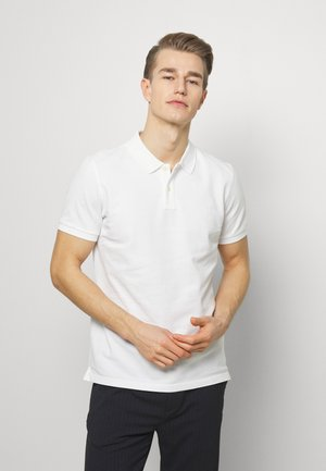 SHORT SLEEVE RIB DETAILS - Polo shirt - white