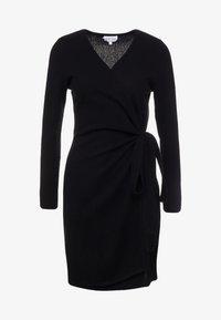 Davida Cashmere - WRAP OVER DRESS - Jumper dress - black - 4