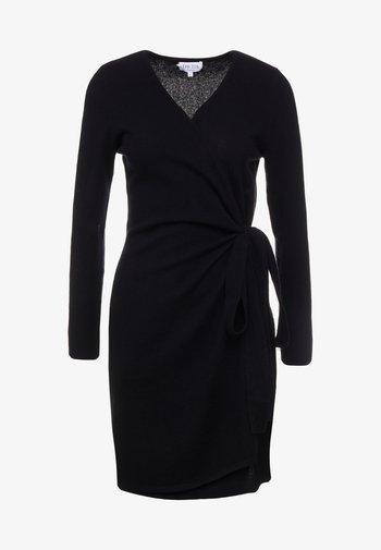 WRAP OVER DRESS - Jumper dress - black