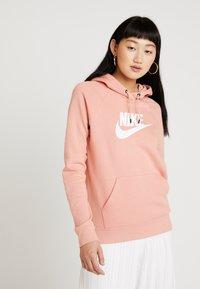 Nike Sportswear - HOODIE - Luvtröja - pink quartz/white - 0