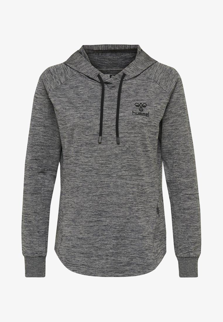 Hummel - HMLSELBY - Bluza z kapturem - dark grey melange