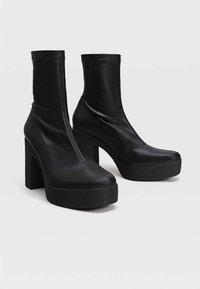Stradivarius - High heeled ankle boots - black - 4