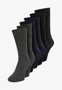 Bugatti - 6 PACK - Socks - dark navy/anthracite melange/black - 0