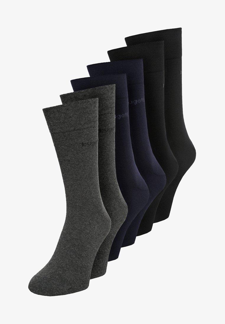 Bugatti - 6 PACK - Socks - dark navy/anthracite melange/black