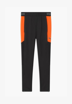 Tracksuit bottoms - black/shocking orange