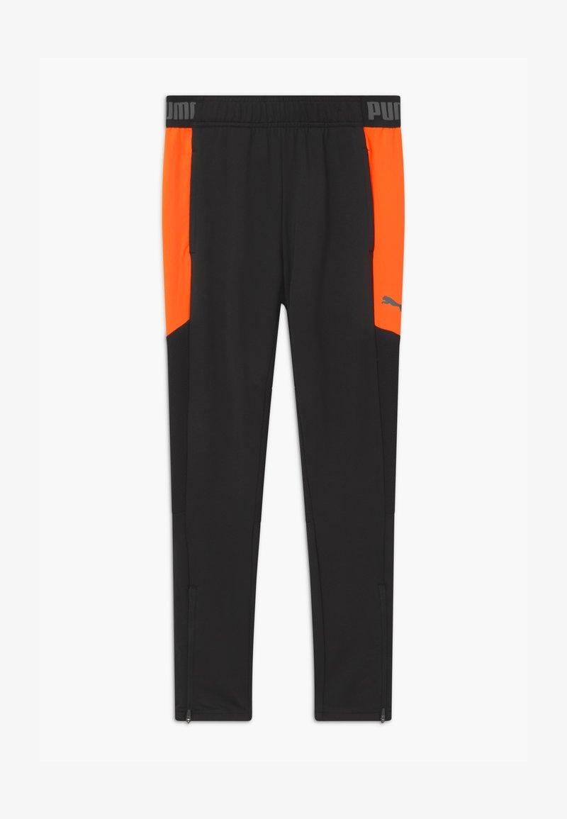 Puma - Tracksuit bottoms - black/shocking orange