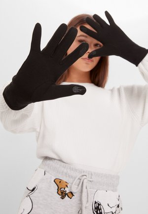 MIT STICKEREI  - Gloves - black