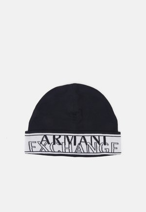 BEANIE HAT UNISEX - Bonnet - navy/white