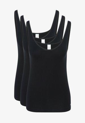 3ER PACK SOFTFEELING - Hemd - schwarz