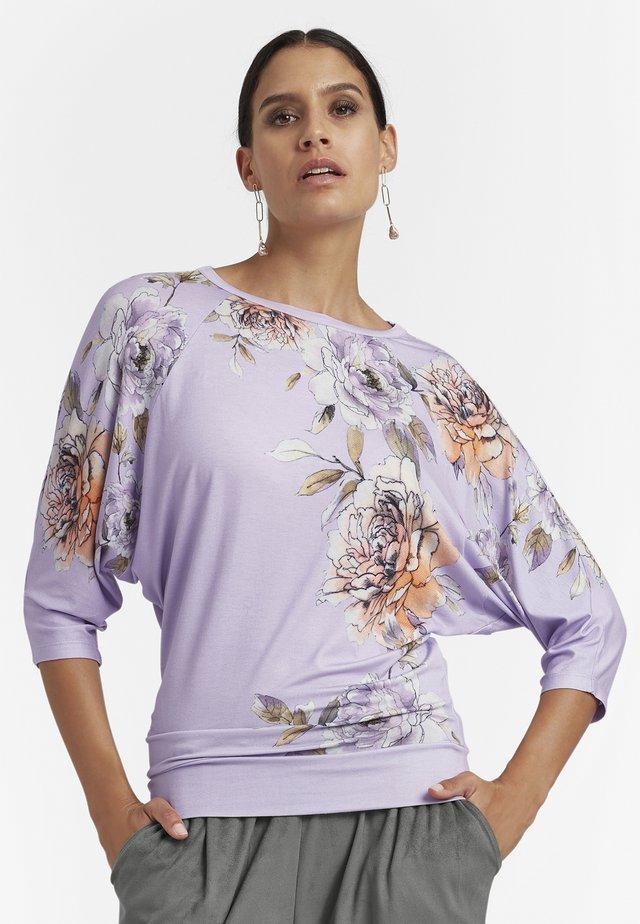 Long sleeved top - flieder multicolor