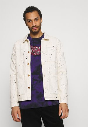 PAINT SPLATTERED WORKWEAR JACKET - Summer jacket - ecru
