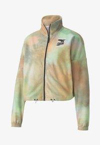 Puma - EVIDE PRINTED - Fleece jacket - puma white - 3