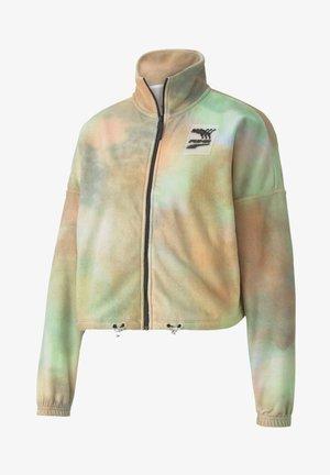 EVIDE PRINTED - Fleece jacket - puma white