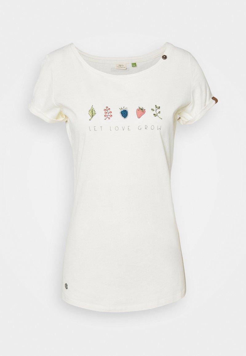Ragwear - T-shirts med print - off white