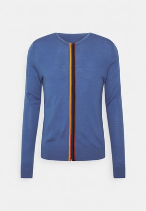 GENTS ZIP THRU - Strickjacke - bright blue