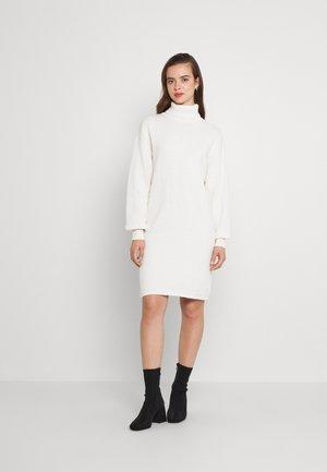 ROLL NECK MINI DRESS - Jumper dress - off-white
