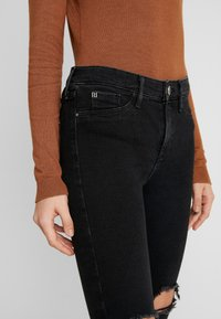 River Island - MOLLY - Jeans Skinny Fit - black denim - 5