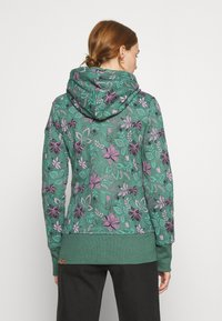 Ragwear - NESKA FLOWERS ZIP - Zip-up hoodie - green - 3