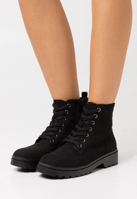 New Look - BOATING LACE UP - Bottines à lacets - black - 0
