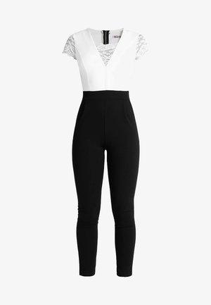 TWO TONE SLEEVE  - Jumpsuit - black/white