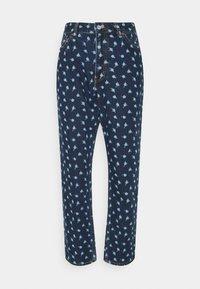 Monki - MINI FLOWER - Straight leg jeans - blue - 5