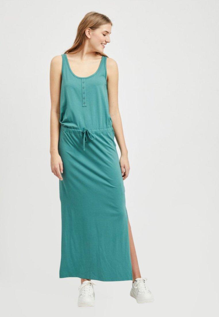 Object - OBJSTEPHANIE MAXI DRESS  - Maxi dress - blue spruce