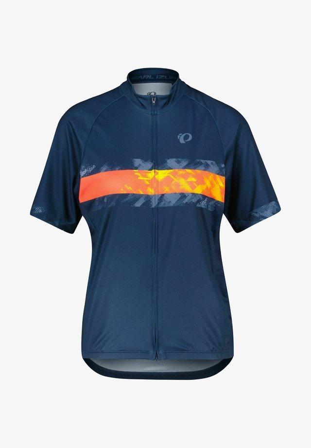 CLASSIC JERSEY - Print T-shirt - marine/rot