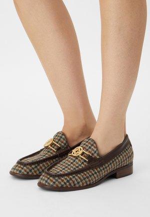 KENNEDI - Nazouvací boty - navy/brown