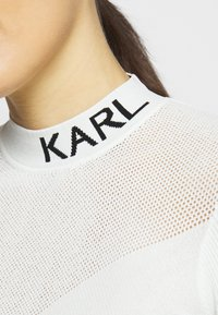 KARL LAGERFELD - POINTELLE LOGO  - Jumper - off-white - 5