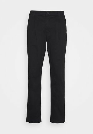 BLACK PLEAT - Pantaloni - black