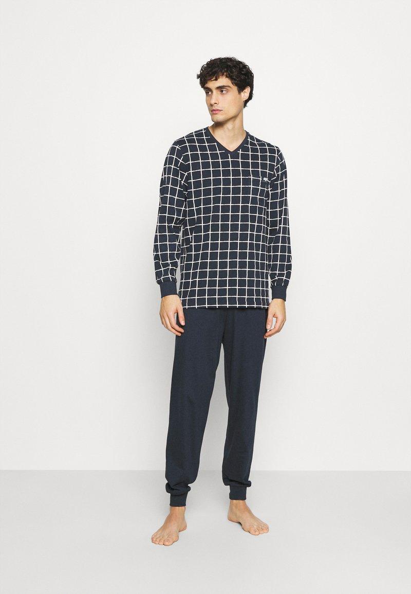 Ceceba - V-NECK SET - Pyjamas - blue dark