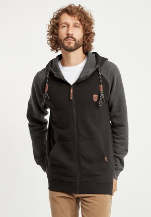 TERENCE - Zip-up hoodie - black
