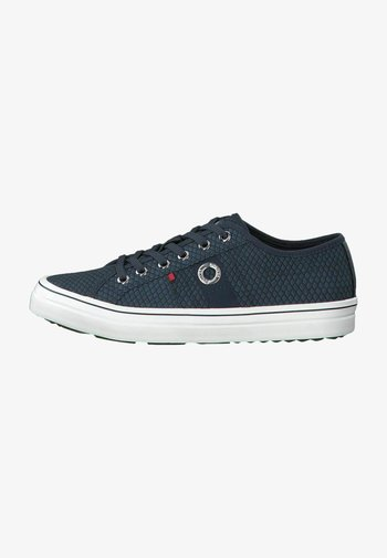 LACE UP - Sneakers laag - navy snake