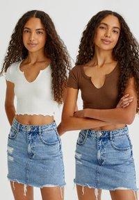 PULL&BEAR - 2 PACK - T-shirt basic - white - 1