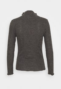 Selected Femme Petite - SLFLINNA  - Maglietta a manica lunga - dark grey melange - 1