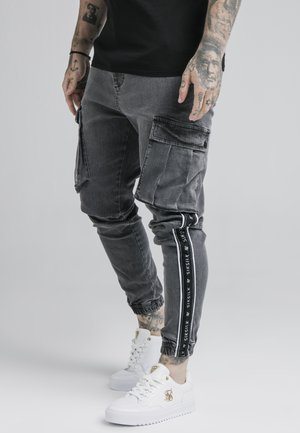TAPED CARGO PANTS - Cargo trousers - dark grey
