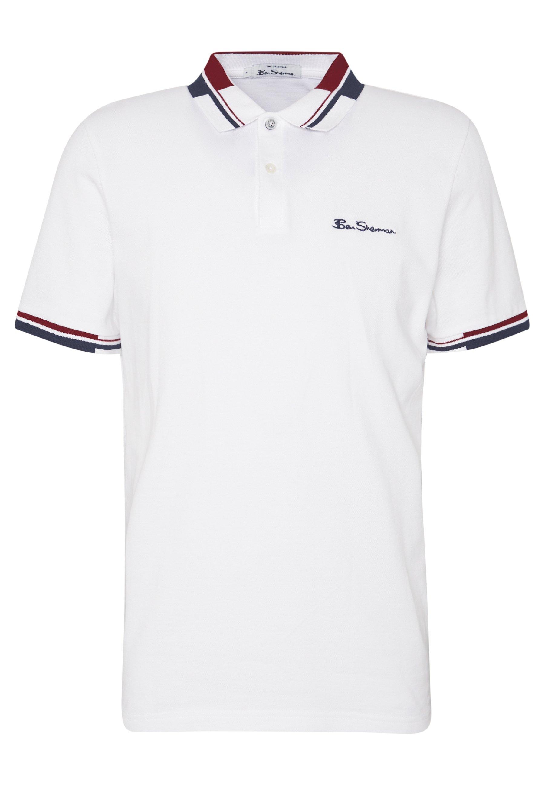 Ben Sherman STRIPE COLLAR - Polo - white