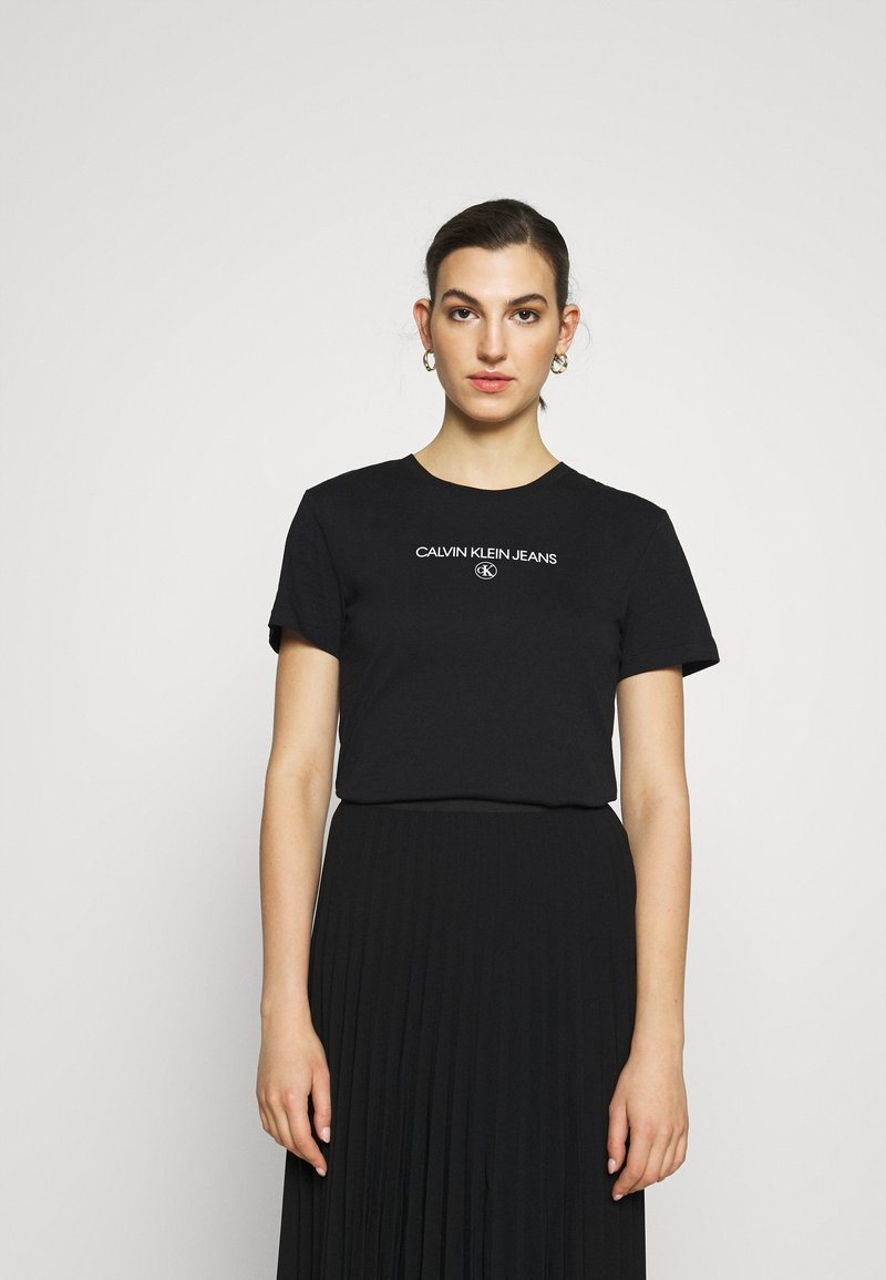 Calvin Klein Jeans - ROUND TEE - Print T-shirt - black