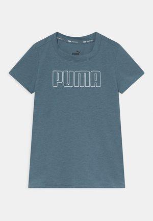 RUNTRAIN TEE UNISEX - Print T-shirt - china blue