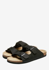 Next - BROWN TWO BUCKLE SANDAL - Slippers - black - 2