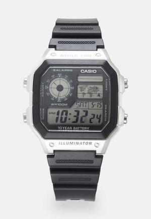 UNISEX - Digital watch - black/silver-coloured