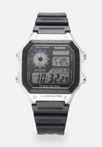UNISEX - Orologio digitale - black/silver-coloured