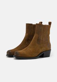 Shabbies Amsterdam - Cowboy/biker ankle boot - brown - 2