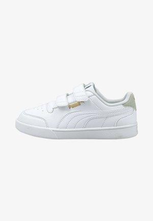 Sneaker low - white white gray gold